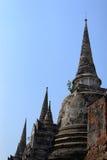 Wat Mahathat Ayutthaya Pagoda Imágenes de archivo libres de regalías