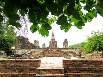 Wat Mahathat, Ayutthaya, Tailandia Fotos de archivo libres de regalías