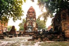 Wat Mahathat, Ayutthaya, Tajlandia Zdjęcia Royalty Free