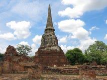 Wat Mahathat, Ayutthaya, Thailand Arkivbild