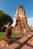 Wat Mahathat, Ayutthaya, Thailand. (Ayutthaya known as old capital of Thailand royalty free stock photography