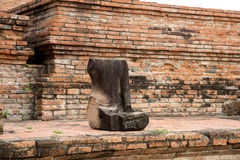 Wat Mahathat. Buddha old parts at Wat Mahathat. Ayutthaya A temple in Ayutthaya historical park. Wat Mahathat temple is of paramount importance in Ayutthaya Stock Image