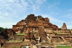 Wat Mahathat dans Ayuttha, Thaïlande Photos libres de droits