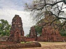 Wat Mahathat, die berühmte alte Stadt und historischer Platz in Thailand Stockfotos