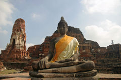 Wat Mahathat em Ayutthaya Imagem de Stock