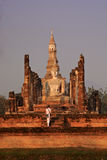 Wat Mahathat em Sukhothai, Tailândia Imagens de Stock Royalty Free