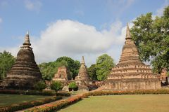 Wat Mahathat, Historical Park, Sukhothai Royalty Free Stock Image