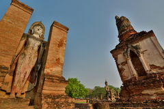 Wat Mahathat Historisch park Sukhothai thailand royalty-vrije stock afbeelding