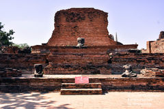 Wat Mahathat i Ayutthaya Royaltyfria Foton