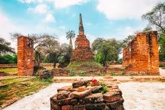 Wat Mahathat im Komplex des buddhistischen Tempels in Ayutthaya nahe Bangkok thailand Stockbilder