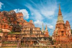 Wat Mahathat nel complesso del tempio buddista a Ayutthaya vicino a Bangkok thailand fotografia stock