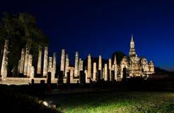 Wat Mahathat at night Royalty Free Stock Image