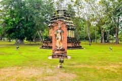 Wat Mahathat, the old city of Sukhothai, Thailanda Stock Photography