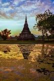Wat Mahathat, the old city of Sukhothai, Thailanda Stock Photos