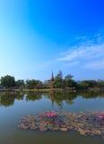 Wat Mahathat på historiska Sukhothai parkerar, Thailand Fotografering för Bildbyråer