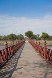 Wat Mahathat på historiska Sukhothai parkerar, Thailand Arkivfoto