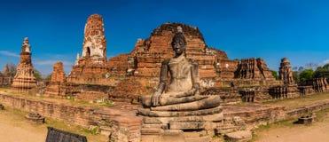 Wat Mahathat-Panorama Lizenzfreies Stockfoto