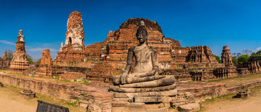 Wat Mahathat panorama Royalty Free Stock Photo