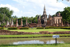 Wat Mahathat and pond Stock Photos