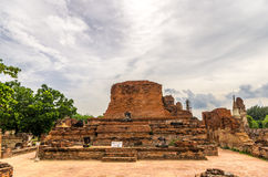 The Wat Mahathat, a ruined temple in Ayuthaya, Thailand. The Ayutthaya historical park covers the ruins of the old city of Ayutthaya, Thailand. The park was Royalty Free Stock Images