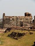 Wat Mahathat Ruins fördärvar av en en khmerstiltempel i Lop Buri, Thailand Fotografering för Bildbyråer