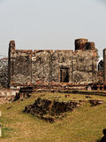Wat Mahathat Ruins, the ruins of a Khmer style temple in Lop Buri, Thailand. Stock Image