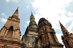 Wat mahathat sukhothai. A very beautiful place Royalty Free Stock Photography