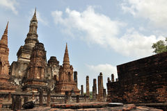 Wat mahathat sukhothai. A very beautiful place Royalty Free Stock Images