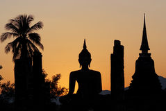 Wat Mahathat, Sukhothai Historical Park Royalty Free Stock Photography