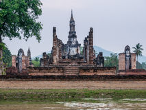 Wat Mahathat at Sukhothai Historical Park, Sukhothai, Stock Image