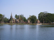 Wat mahathat sukhothai historical park thailand Stock Images