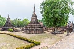 Wat Mahathat in Sukhothai Historical park Stock Image