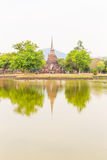 Wat Mahathat in Sukhothai Historical park Stock Photo