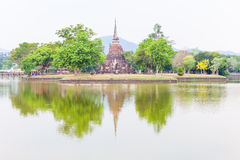Wat Mahathat in Sukhothai Historical park Royalty Free Stock Image