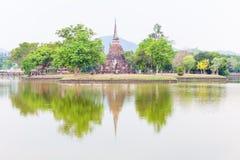 Wat Mahathat in Sukhothai Historical park Royalty Free Stock Image