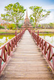 Wat Mahathat in Sukhothai Historical park Stock Photography