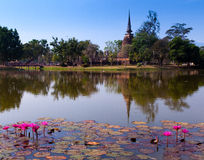 Wat Mahathat at Sukhothai Historical Park, Thailand Stock Image