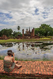 Wat mahathat sukhothai historical park thailand Royalty Free Stock Photos