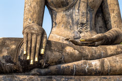 Wat Mahathat in Sukhothai historical park, Thailand. Statue of a Buddha Royalty Free Stock Photography