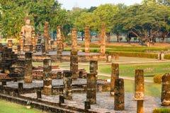 Wat Mahathat, Sukhothai, Tailandia, immagine stock