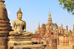 Wat Mahathat, Sukhothai, Thailand lizenzfreie stockbilder