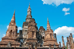Wat Mahathat from Sukhothai, Thailand. Royalty Free Stock Photos