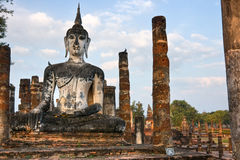 Wat Mahathat, Sukhothai, Thailand, Stock Photo