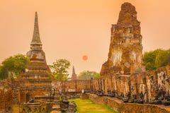 Wat Mahathat. Sunset Stock Photos