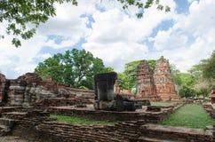 Wat Mahathat-tempel Stock Foto's