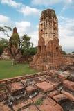 Wat Mahathat (tempel av den stora reliken eller tempel av den stora relikskrin) är det gemensamma korta namnet av flera viktig bu Arkivfoto