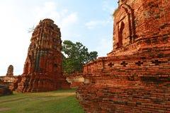 Wat Mahathat (tempel av den stora reliken eller tempel av den stora relikskrin) är det gemensamma korta namnet av flera viktig bu Fotografering för Bildbyråer