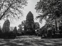 Wat Mahathat tempel i Ayutthaya Royaltyfri Fotografi