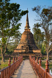 Wat Mahathat (Tempel van de Grote Overblijfselen) royalty-vrije stock foto's