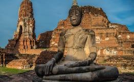 Wat Mahathat (Tempel van de Grote Overblijfselen) stock foto's